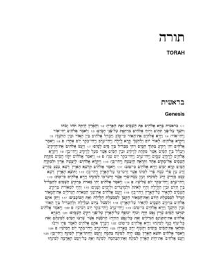 BIBLE / TORAH (hebrew)