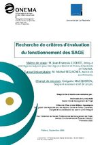 Criteres d evaluation des SAGE
