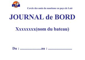 Journal de bord - page de garde modifiable