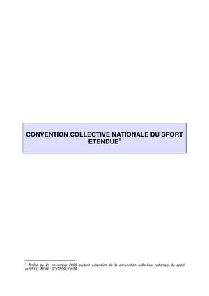 La convention collective nationale du sport (CCNS)