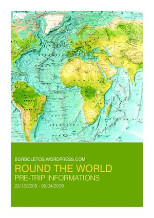 Borboletos Round the World - Pre Trip Informations