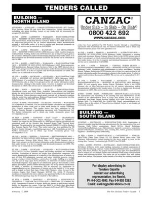 New Zealand Tenders Gazette