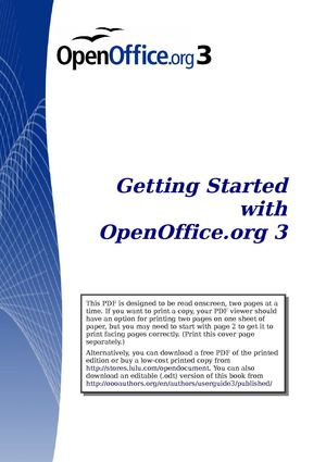 OpenOffice.org 3 - Getting Started