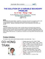 The Solution Of A Variable Boundary Problem
