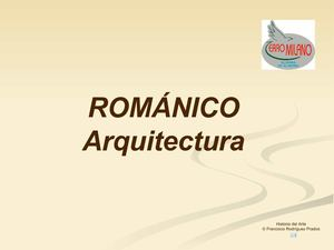 ARQUITECTURA ROMÁNICA. PPT
