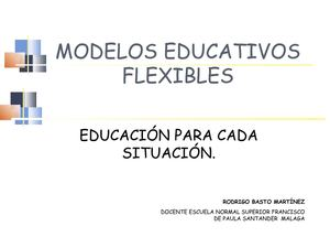 Modelos Educativos Flexibles