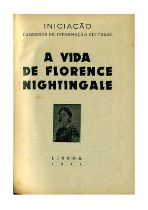 A VIDA DE FLORENCE NIGHTINGALE
