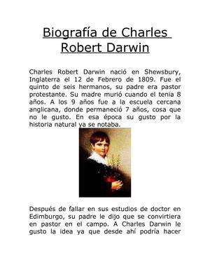 calam 233 o vida y biografia de charles robert darwin