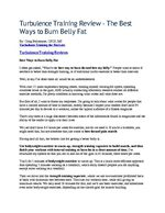 Turbulence Training Review - The Best Ways to Burn Belly Fat