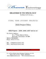 Image Processing IEEE Project Titles with Abstract, 2009 - 2010