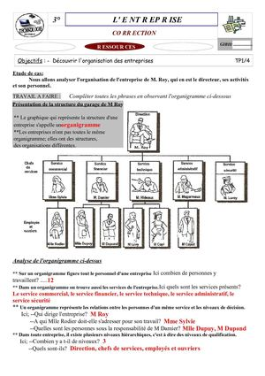 organigramme d'une enterprise commerciale pdf free