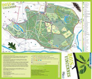 Calam o plan du bois de vincennes ville de paris for Bois de boulogne piscine