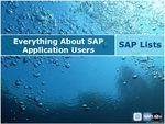 Everything About SAP Application Users