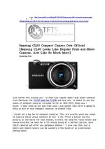 Samsung CL80 Compact Camera Gets Official [Samsung CL80 Looks Like Regular Point-and-Shoot Cameras, Acts Like So Much More]