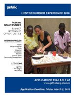 Summer Heston Experience - 2010 Application