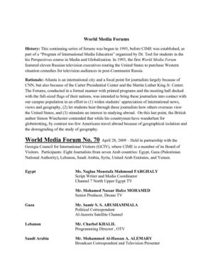 Center for International Media Education World Media Forums