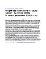 Weight loss supplements for young women.docx