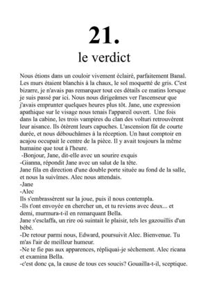 New moon. Chapitre 21. point de vu d'Edward
