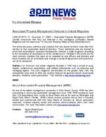 Associated Property Management (APM) Provides Lead Article to Habitat Magazine