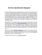 Service Apartments Gurgaon