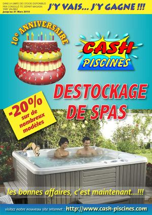 Calam o catalogue cash piscine for Cash piscine 71