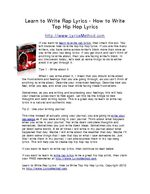 how to write rap lyrics No matter how much you write, your raps lack the punch needed to take it to   here are 6 lyrical crafting techniques that the pros use today to edge over the rest.