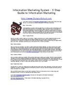Information Marketing System - 5 Step Guide to Information Marketing