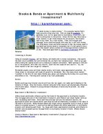 Stocks & Bonds or Apartment & Multifamily Investments?