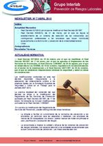 Newsletter nº 7. Abril 2010. Prevención Riesgos Laborales G. Interlab