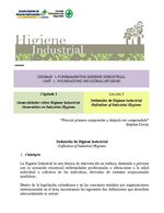 Definición de Higiene Industrial -Definition of Industrial Hygiene-