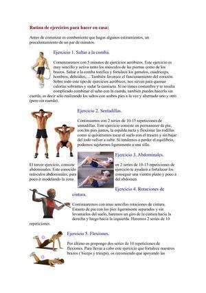 Calam o rutina de ejercicios fisicos for Deportes para adelgazar