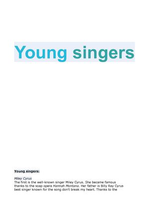 Young singers