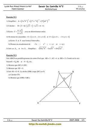 devoir math