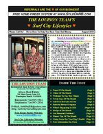 Surf City Lifestyles Newsletter - August 2010 Edition