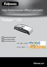 Fellowes Voyager Vy-125 Laminator Manual