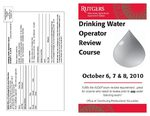 Drinking Water Operator Review Course Fall 2010