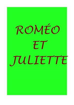 ROMEO ET JULIETTE VERSION FINALE