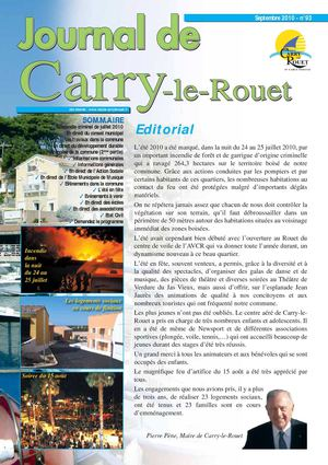 Journal municipal de Carry-le-Rouet N93