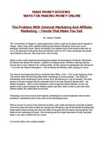 The Problem With Internet Marketing And Affiliate Marketing - Trends That Make You Fail