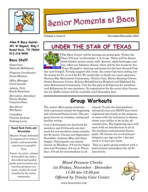Baca Center Newsletter November/December