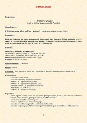 L'orient ancien 6eme evaluation essay
