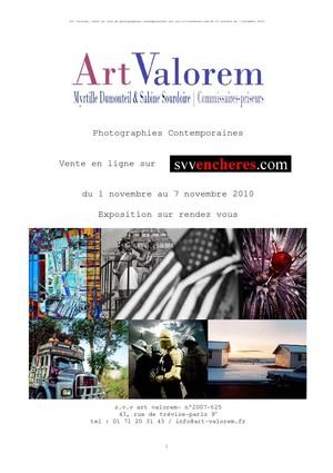 Catalogue Photographies Contemporaines