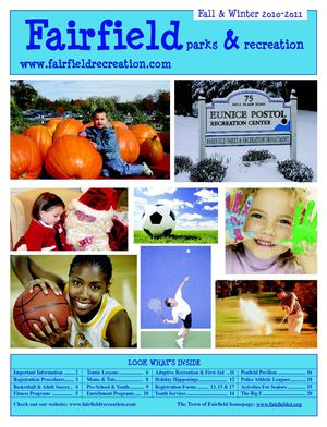 Fairfield Parks and Recreation Fall & Winter Brochure 2010 - 2011