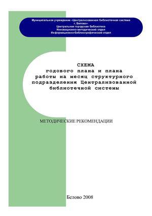 Схема годового плана и плана
