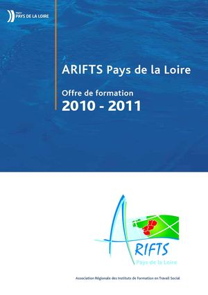 Catalogue 2011 des formations de l'ARIFTS