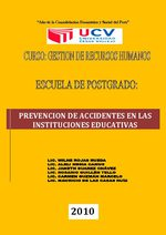 PREVENCION DE ACCIDENTES EN LAS INSTITUCIONES EDUCATIVAS