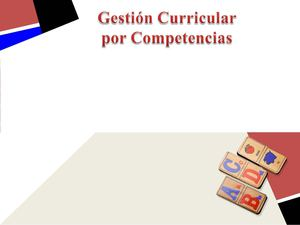Gestion curricular competencias