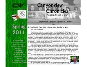 Canyonview Spring 2011 Newsletter