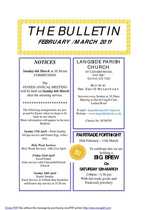 The Bulletin - February / March 2011
