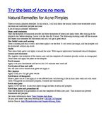 Natural Remedies for Acne Pimples
